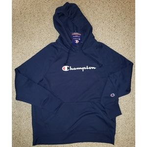Champion Blue Pullover Hoodie, New with Tags